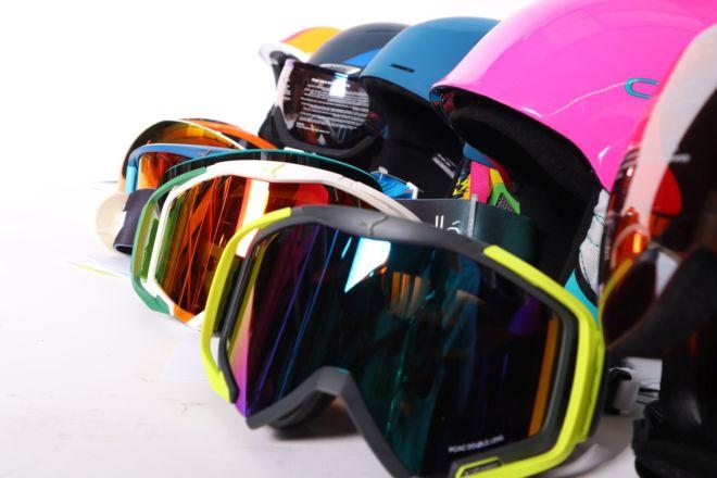 Levné helmy a brýle na lyže